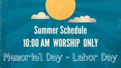 10 AM Only Summer Schedule #1